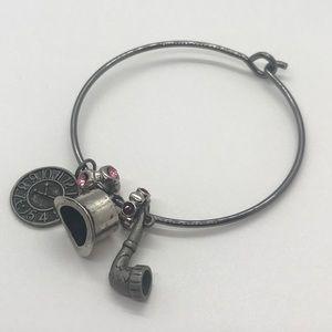 Steampunk Charm Bangle Bracelet